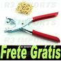 Alicate Para Ilhós Com 100 Ilhoses De Brinde + Frete Grátis