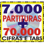 2 Cds Com 7 Mil Partituras + 70 Mil Cifras E Tablaturas