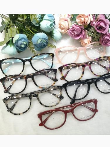 b19226b4b76fb Óculos Armação De Grau Gatinho Redondo Acetato Frete +brinde