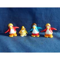 Lote Bonecos Club Penguin Da Dsiney Usados 7cm Altura
