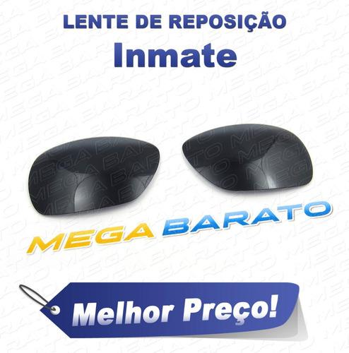 765e90eaee984 Lente Óculos Inmate Preta Stealth Black Polarizada