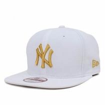 Boné Snapback Ny Yankees White/gold Original Fit Aba Reta