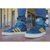 Tênis Adidas Varial Mid 2 Marinho/laranja Willian Radical