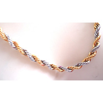 Corrente Aço Modelo Torcido Folheada A Ouro Linda Em 12x Mp