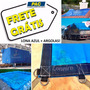 Lona Super 6x3 M Azul Plastica E Argolas Cada 50cm 350mic