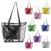 d979a750c Busca Bolsa sacola de praia transparente com 3 necessaire, por 20 ...