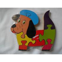 Quebra Cabeça Cachorro Brinquedo Jogo Madeira (fp)
