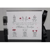 Scrabook Album Fotos Livro Assinatura Namorados Presente