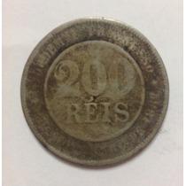 Moeda Brasil De 200 Reis De 1889