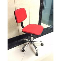 Cadeira Secretária Giratória Tecido Vermelha Shopping Matriz