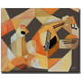 Quadro / Decorativo / Painel / Gravura Em Tecido 70x50x4cm.