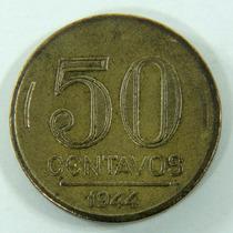 Moeda 50 Centavos De 1944 Getulio Vargas