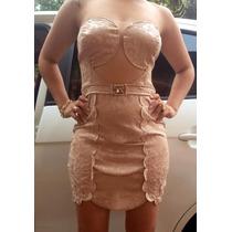 Vestido Curto Rosé Com Tulé