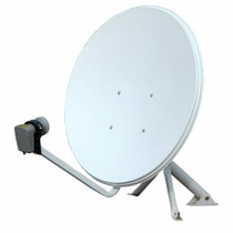 Antena Ku 60cm Sem Logo + Lnbf Universal Simples