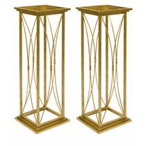Colunas Decoração Casamentos Ouro Envelhecido Kit 2 Peças