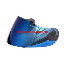 Viseira Peels Spike Espelhada Azul Com Botão.