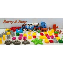 Fazenda Feliz Brinquedo Pedagógico Blocos De Montar 72 Peças