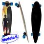 Skate Longboard Abec 9 Rolamento Shape Rodas Completo Radica
