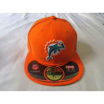 Boné Fechado Aba Reta New Era Nfl Miami Dolphins Exclusivo
