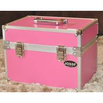 Maleta De Maquiagem Profissional Grande Rosa-promoção!!!
