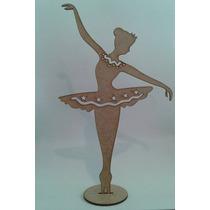 10 Bailarinas Vazadas Em Mdf Cru 25cm Lembrancinhas 15 Anos