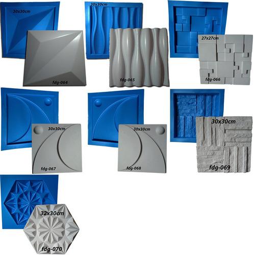 7 Formas De Plástico Com Borracha Gesso 3d  Digitalartrio