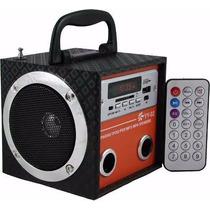 Yy Caixa Som Caixinha Portátil Usb Mp3 Pen Drive Radio Fm Sd