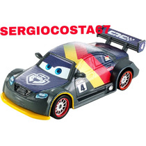 Disney Cars Carros 2 Max Schnell Carbon Racer - Loose Mattel