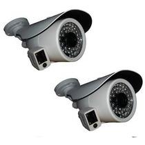 Kit 02 Câmera Ip Onvif 2mp Full Hd 1080p Ir Pega Placa Rosto