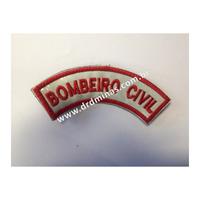 Distintivo Bordado Bombeiro Civil - III  - U