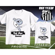 Camiseta Santos Time Futebol Personalizadas Kit Com 2
