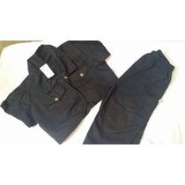 Conjunto Jeans Calça + Casaquinho