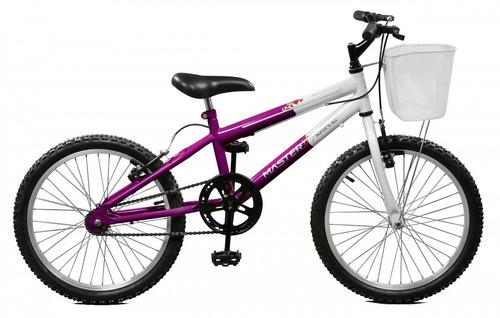 Bicicleta Aro 20 Violeta / branco Feminina - Master Bike