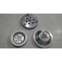 Kit Polia Vw Ap 1.6/1.8/2.0 - Aluminio 3 Peças