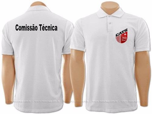 ada2ca7787 10 Camisa Polo Uniforme Bordado Personalizada Frente E Costa