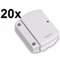 Kit 20 Sensor Magnetico Sem Fio Alarmes 433mhz Ecp C/ Pilha