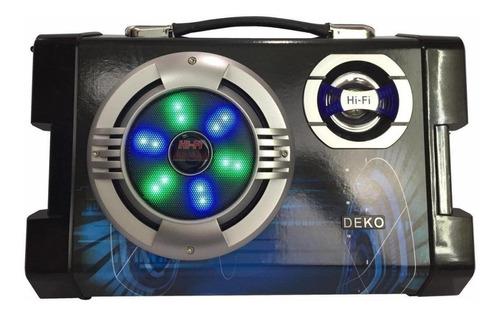 Caixa De Som Deko Sy-658 Portátil Preto/azul 110v/220v