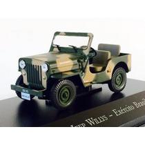 Miniatura De Jeep Willys Exército Brasileiro 1:43 Ixo