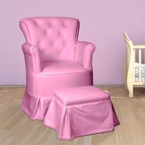 Poltrona De Amamentação Com Balanço Isadora Design Rosa