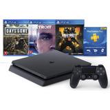 Console Sony Playstation 4 Slim 1tb + 1 Controle + 3 Jogos