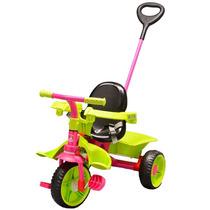 Triciclo Infantil Smart Haste Removível Rosa 272 Bandeirante