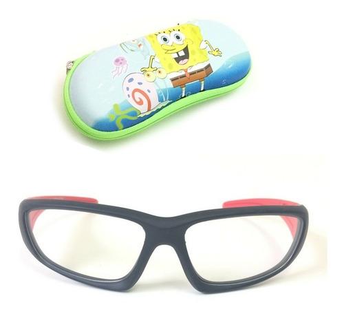 23e47fb4a Armação Óculos Grau Infantil Silicone Menino S805