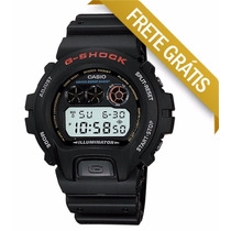 Relogio Cassio G-shock G Shoque Dw-6900-1vdr Preto Led Azul