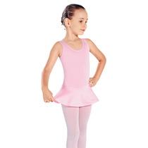 Collant Regata C/ Saia Infantil P/ Ballet Sd - Em Helanca
