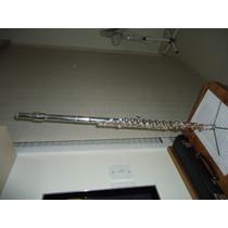 Flauta Transversal Selmer Usa-cabeça De Prata De Lei-pé Em B
