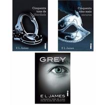 Kit Livros - 50 Tons Mais Escuros + 50 Tons Liberdade + Grey