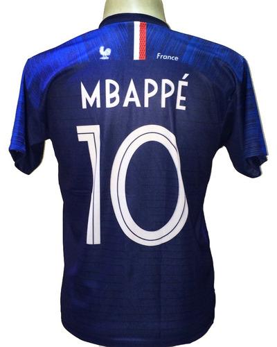 059cc9ea3f Camisa França Branca Mbappe Nova 2018 19. R  29.9