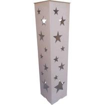 Kit 2 Coluna Decorativas Estrela - Mdf - Crú