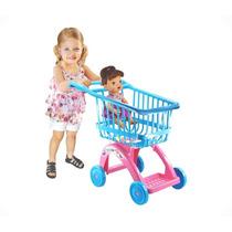 Carrinho De Compras Baby Alive Azul Com Rosa Lider