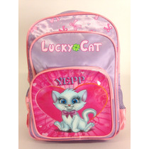 Mochila De Criança Pequena Linda Feminina Gatinha Lucky Cat